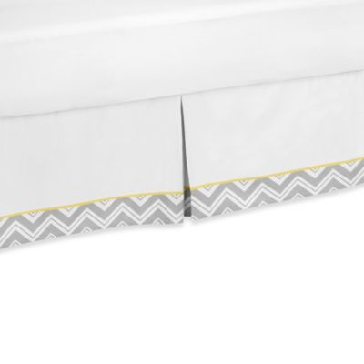 Sweet Jojo Designs Zig Zag Queen Bed Skirt in Grey/Yellow