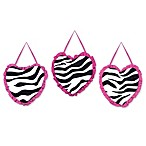 Sweet Jojo Designs Funky Zebra 3-Piece Wall Hanging Set