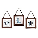 Sweet Jojo Designs Starry Night Wall Hangings (Set of 3)