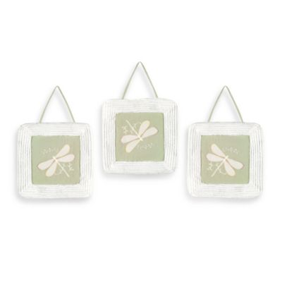 Sweet Jojo Designs Dragonfly Dreams 3-Piece Wall Hanging Set