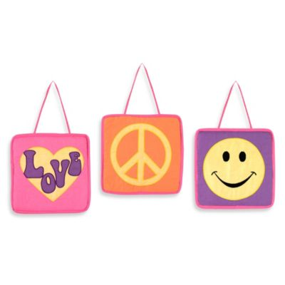 Sweet Jojo Designs Groovy Wall Hanging (Set of 3)