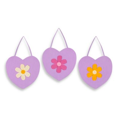 Sweet Jojo Designs Danielle's Daisies 3-Piece Wall Hanging Set