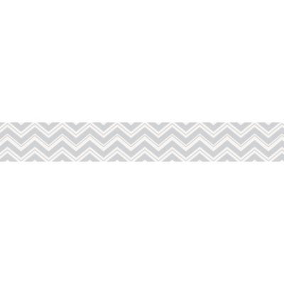 Sweet Jojo Designs Zig Zag Wallpaper Border in Grey