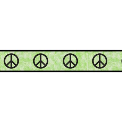Sweet Jojo Designs Peace Out Wall Paper Border in Green