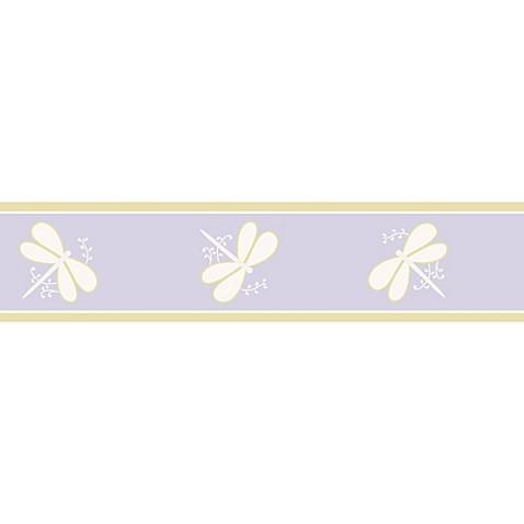 sweet jojo designs dragonfly dreams wallpaper border in