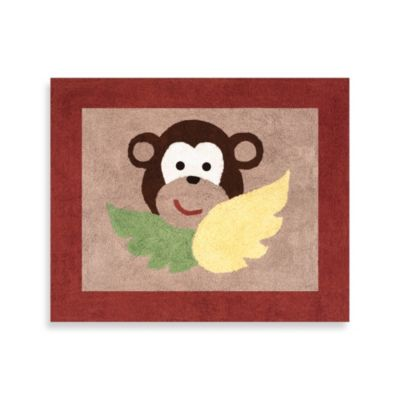 Sweet Jojo Designs Monkey Time Floor Rug