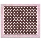 Sweet Jojo Designs French Toile and Polka Dot 30-Inch x 36-Inch Accent Rug in Pink/Brown