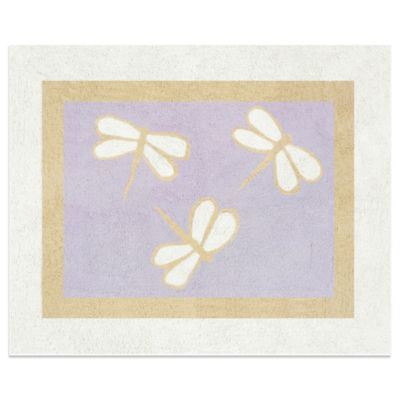Sweet Jojo Designs Dragonfly Dreams Accent Floor Rug in Purple