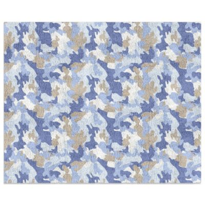 Sweet Jojo Designs Camo 30-Inch x 36-Inch Floor Rug in Blue