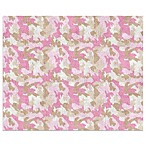 Sweet Jojo Designs Camo Floor Rug in Pink/Khaki
