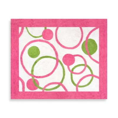 Sweet Jojo Designs Mod Circles 30-Inch x 36-Inch Accent Rug in Pink/Green