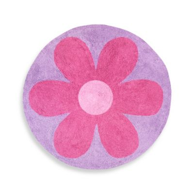 Sweet Jojo Designs Danielle's Daisies 30-Inch Round Accent Rug