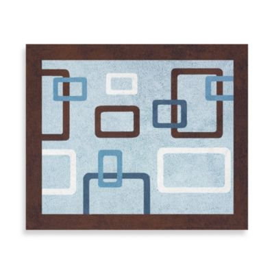 Sweet Jojo Designs Geo Accent Floor Rug in Blue/Brown