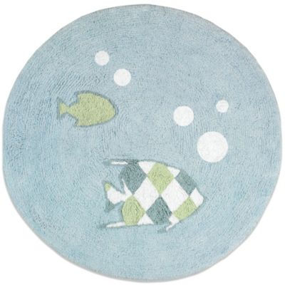 Sweet Jojo Designs Go Fish 30-Inch Round Accent Rug