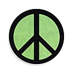 Sweet Jojo Designs Peace Out Accent Floor Rug in Green