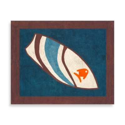 Sweet Jojo Designs Surf Accent Floor Rug in Blue/Brown