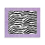 Sweet Jojo Designs Funky Zebra 30-Inch x 36-Inch Accent Rug in Purple