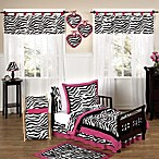 Sweet Jojo Designs Funky Zebra Toddler Bedding Collection in Pink