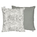 Sweet Jojo Designs French Toile Decorative Accent Throw Pillow in Black/Cream