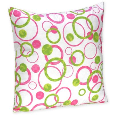 Sweet Jojo Designs Mod Circles Decorative Throw Pillow in Pink/Green