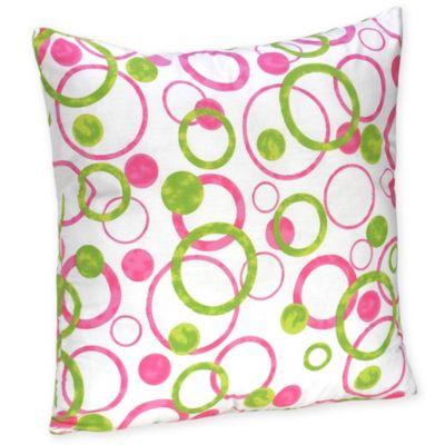 Sweet Jojo Designs Mod Circles Decorative Toss Pillow in Pink/Green