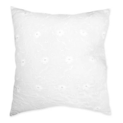 Sweet Jojo Designs Eyelet Decorative Throw Pillow in White