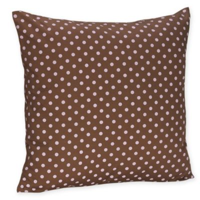 Sweet Jojo Designs French Toile and Polka Dot Decorative Throw Pillow in Pink/Brown Mini Dot