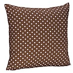 Sweet Jojo Designs French Toile and Polka Dot Decorative Toss Pillow in Pink/Brown Mini Dot