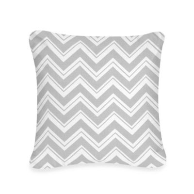 Sweet Jojo Designs Zig Zag Decorative Pillow in Grey