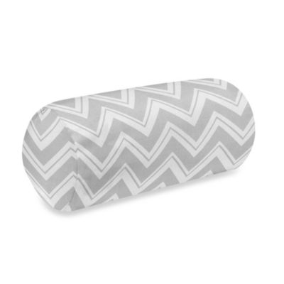Sweet Jojo Designs Zig Zag Decorative Neckroll Bolster Pillow in Grey