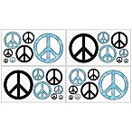 Sweet Jojo Designs Peace Out Wall Decal Stickers in Blue