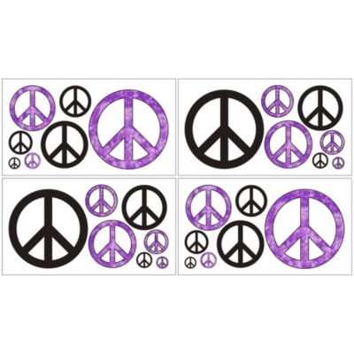 Purple Black Wall Decals