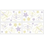 Sweet Jojo Designs Dragonfly Dreams Wall Decals in Purple