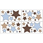 Sweet Jojo Designs Soho Wall Decals in Blue/Brown