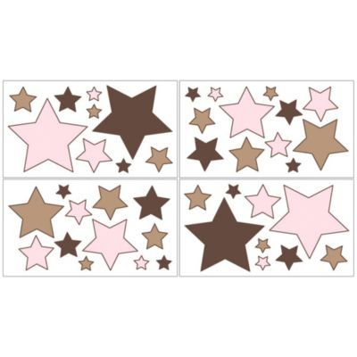 Sweet Jojo Designs Soho Wall Decals in Pink/Brown
