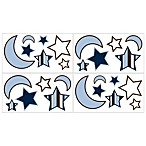 Sweet Jojo Designs Starry Night Wall Decals (Set of 4)