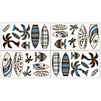 Sweet Jojo Designs Surf Wall Decals in Blue/Brown