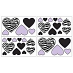 Sweet Jojo Designs Funky Zebra Wall Decals in Purple