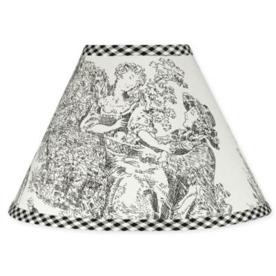 Sweet Jojo Designs French Toile Lamp Shade in Black/Cream
