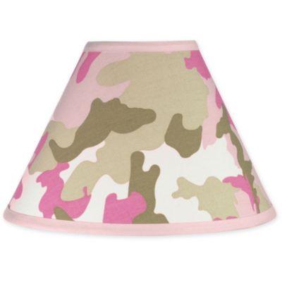 Sweet Jojo Designs Camo Lamp Shade in Pink