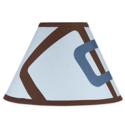 Sweet Jojo Designs Geo Lamp Shade in Blue/Brown