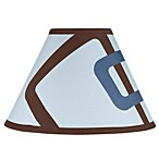 Sweet Jojo Designs Geo Lamp Shade in Blue/Brown