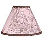 Sweet Jojo Designs French Toile and Polka Dot Lamp Shade in Pink/Brown