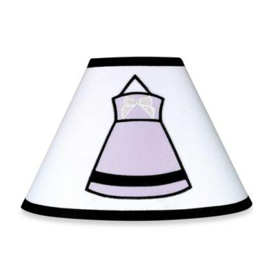 Sweet Jojo Designs Princess Lamp Shade in Black/White/Purple