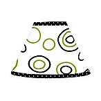 Sweet Jojo Designs Spirodot Lamp Shade in Lime and Black