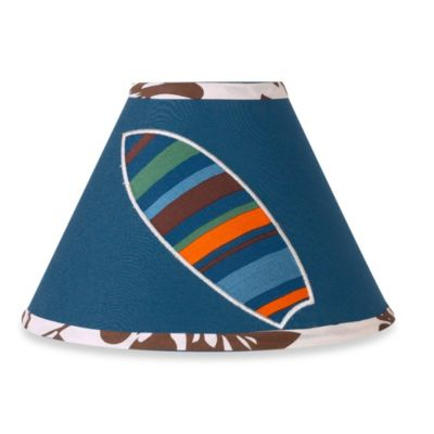 Sweet Jojo Designs Surf Lamp Shade in Blue/Brown