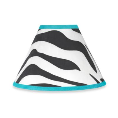 Sweet Jojo Designs Funky Zebra Lamp Shade in Turquoise