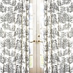 Sweet Jojo Designs French Toile 84-Inch Window Panel Pair in Black/Cream