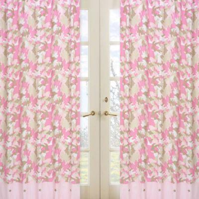 Sweet Jojo Designs Camo 84-Inch Window Panels in Pink (Set of 2)