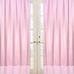 Sweet Jojo Designs Pink Chenille and Satin 42-Inch x 84-Inch Window Panels